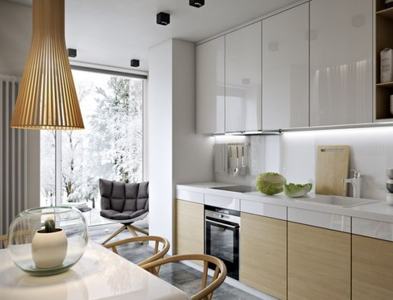 Кухня совмещенная с балконом, фото 5