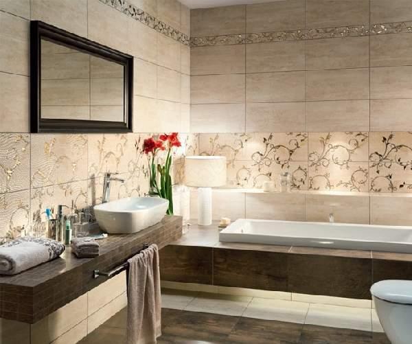 дизайн ванной раскладка плитки, фото 11