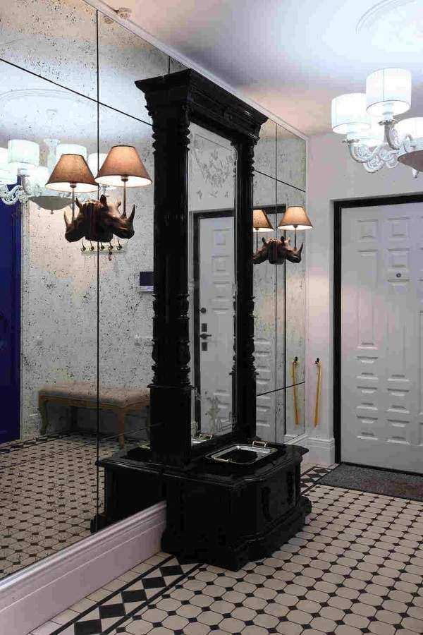 дизайн узкой длинной прихожей в квартире, фото 17
