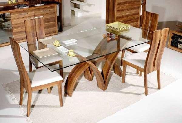 дизайнерский стеклянный обеденный стол, фото 17
