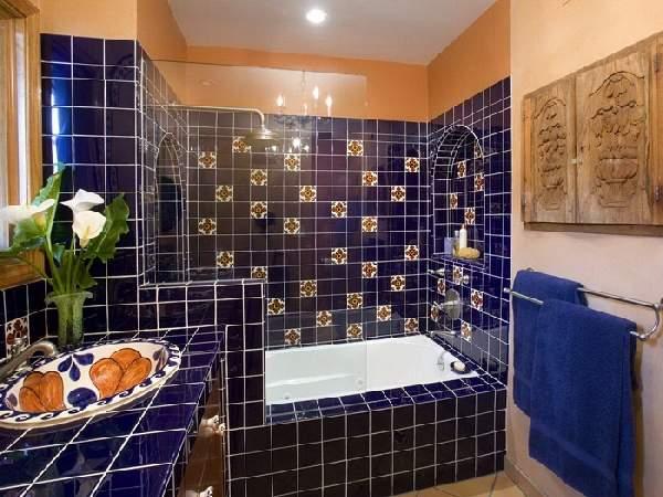 вертикальная раскладка плитки в ванной, фото 7