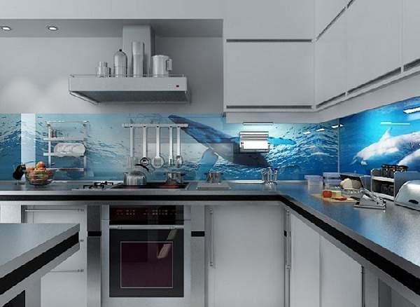 дизайн кухни гостиной, фото 8