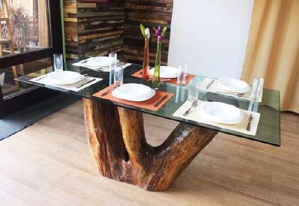 дизайнерские стеклянные столы для кухни, фото 11
