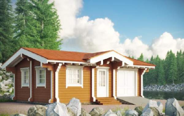 одноэтажные дома из бруса, фото 12