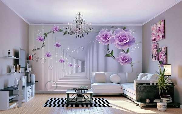 3д фотообои для стен цветы, фото 45