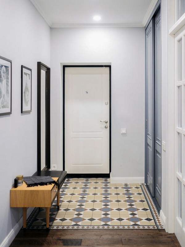 дизайн узкой прихожей в квартире, фото 23