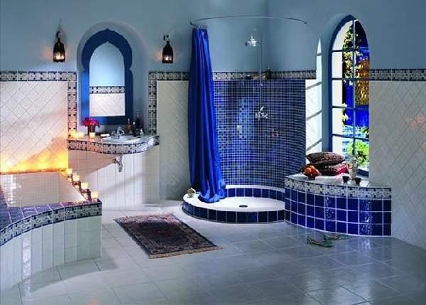 раскладка плитки в ванной, фото 29