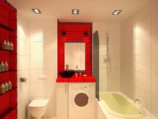 ремонт маленькой ванной комнаты и туалета, фото 9