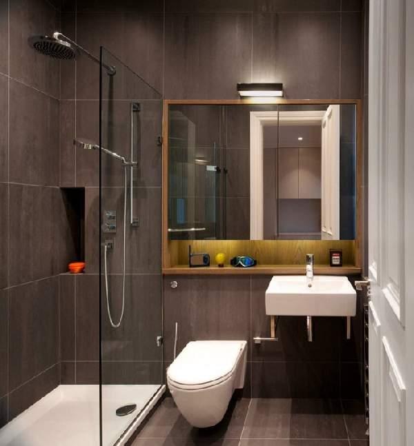 ремонт маленькой ванной совмещенной с туалетом фото, фото 10