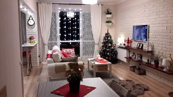 как интересно украсить комнату на новый год, фото 46