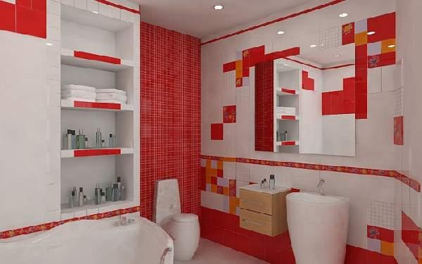 варианты раскладки плитки в ванной, фото 31