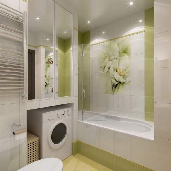 ремонт маленькой ванной комнаты и туалета, фото 11