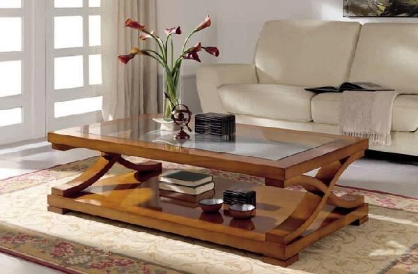 деревянный журнальный столик, фото 2