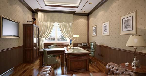 интерьер кабинета в доме, фото 2