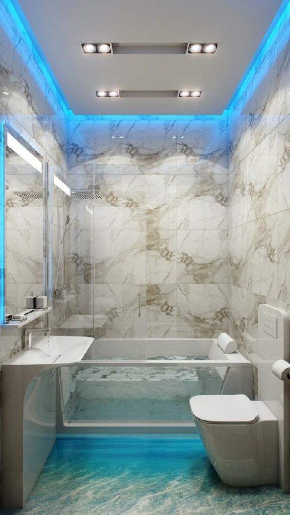 дизайн ремонта маленькой ванны, фото 33