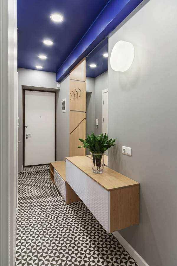 узкая прихожая дизайн в квартире идеи, фото 35