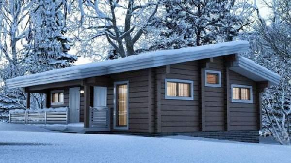 одноэтажные деревянные дома из бруса, фото 36
