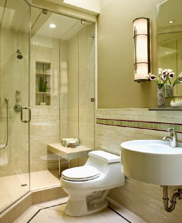 ремонт маленькой ванной комнаты и туалета, фото 13