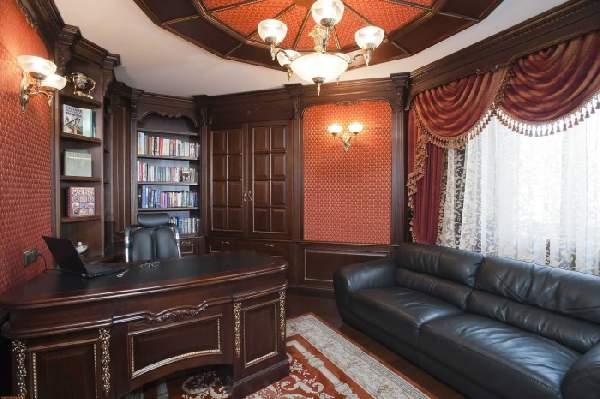 дизайн интерьера кабинета в доме, фото 21