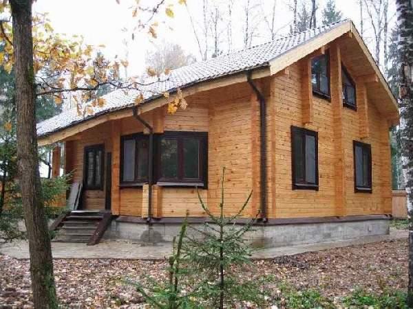 одноэтажный финский дом из бруса, фото 37