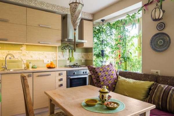 стильный раскладной диван на кухню, фото 16