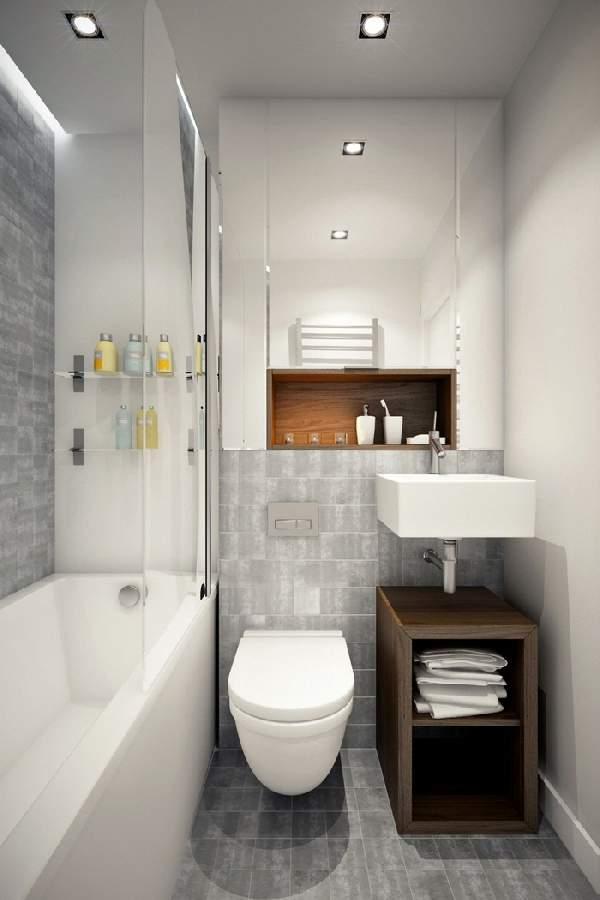 ремонт маленькой ванной совмещенной с туалетом фото, фото 14