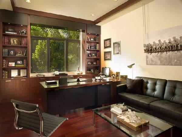 интерьер кабинета в современном стиле, фото 22