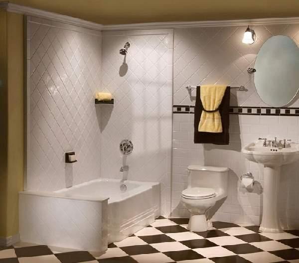 раскладка кафельной плитки в ванной, фото 19