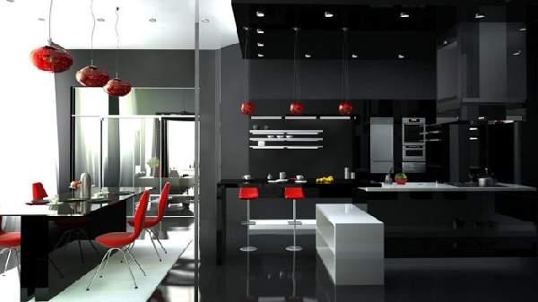 дизайн кухни гостиной, фото 34
