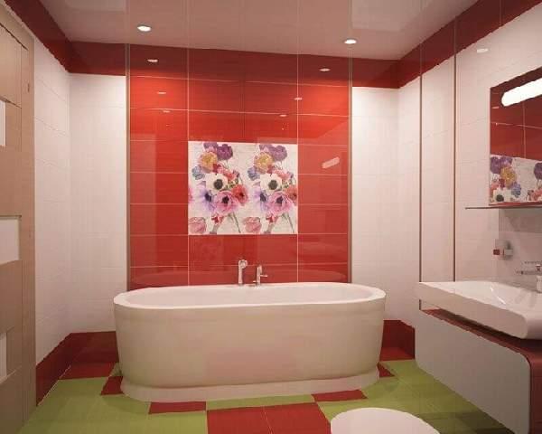 раскладка плитки на полу в ванной, фото 24