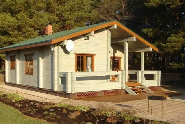одноэтажные деревянные дома из бруса, фото 41