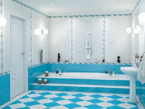 правильная раскладка плитки в ванной, фото 14
