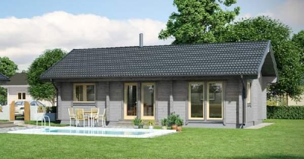 одноэтажный финский дом из бруса, фото 42