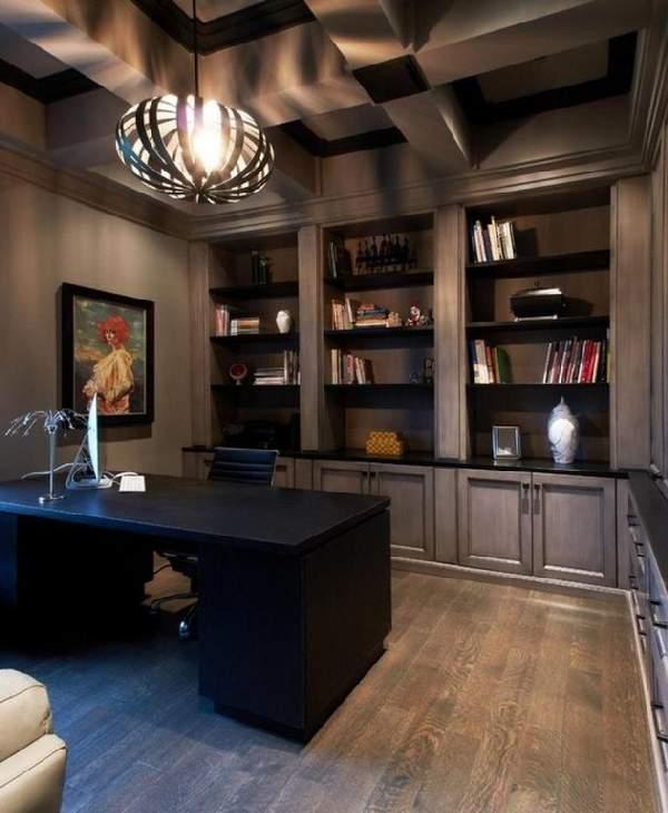 дизайн интерьера кабинета в доме, фото 26