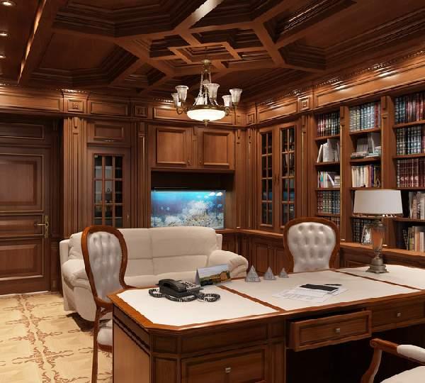 интерьер кабинета в современном стиле, фото 27