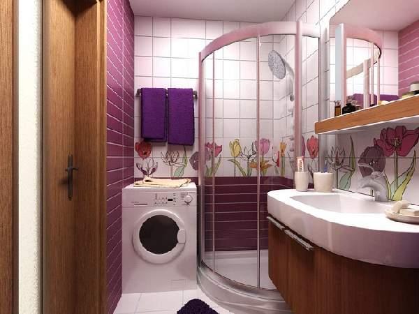 ремонт маленькой ванной с душевой кабинкой, фото 29