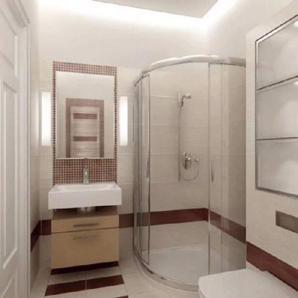 ремонт маленькой ванной с душевой кабинкой, фото 30