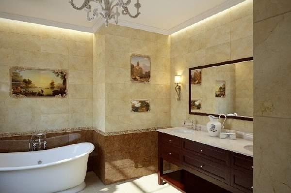 правила раскладки плитки в ванной, фото 13