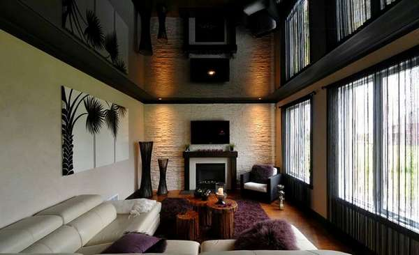 двухуровневые натяжные потолки, фото 3