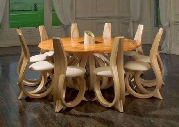 дизайнерские стеклянные обеденные столы, фото 6