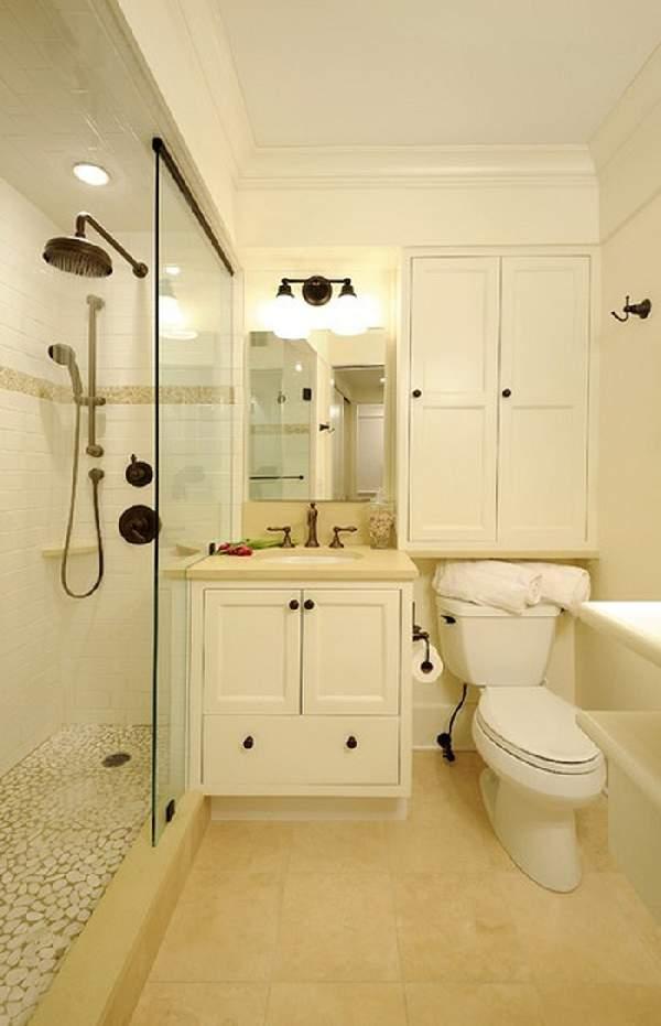 идеи ремонта маленькой ванной комнаты, фото 34