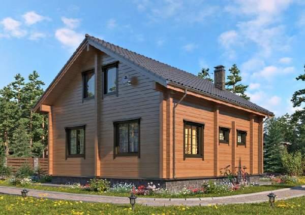 проекты одноэтажных домов из бруса, фото 19