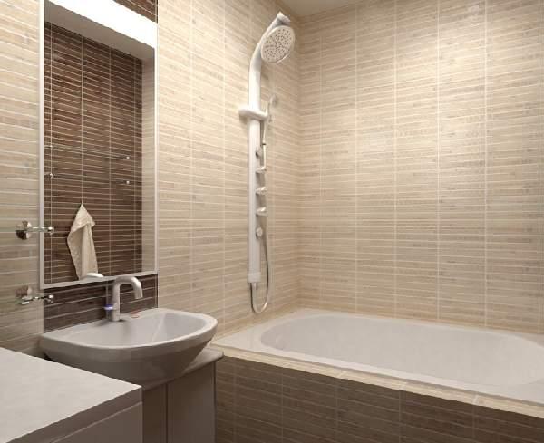 раскладка плитки в маленькой ванной, фото 8