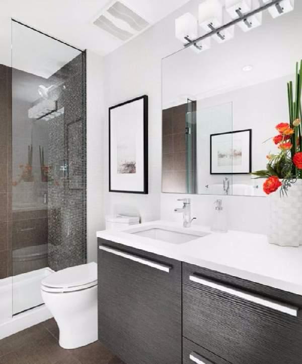 ремонт маленькой ванной с душевой кабинкой, фото 31