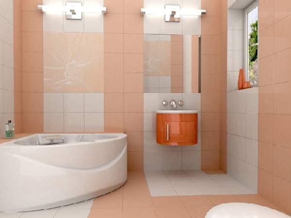 раскладка плитки в маленькой ванной, фото 9
