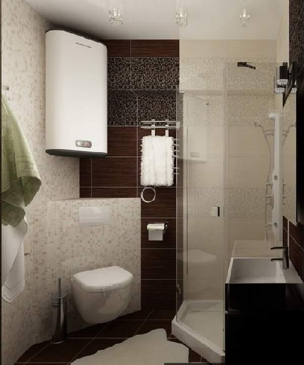 ремонт маленькой ванной комнаты и туалета, фото 5