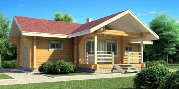 проекты одноэтажных домов из бруса, фото 22
