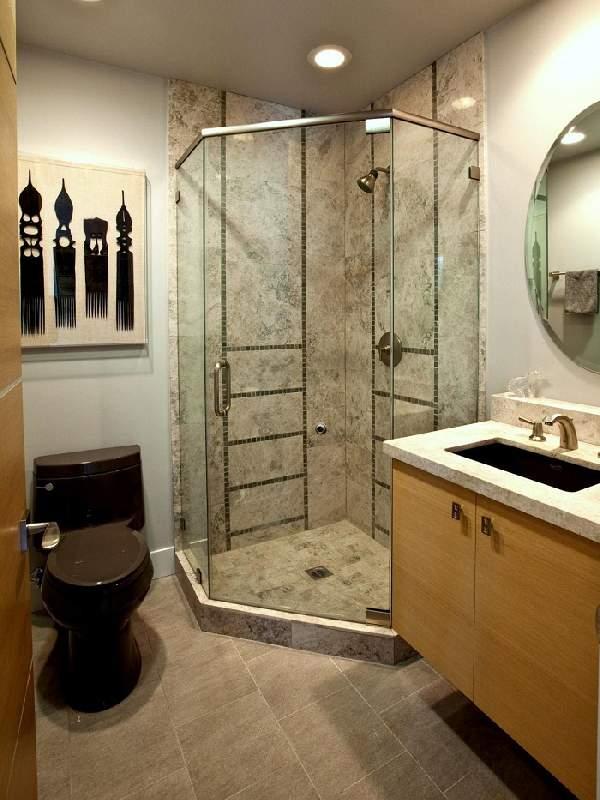 ремонт маленькой ванной совмещенной с туалетом фото, фото 8