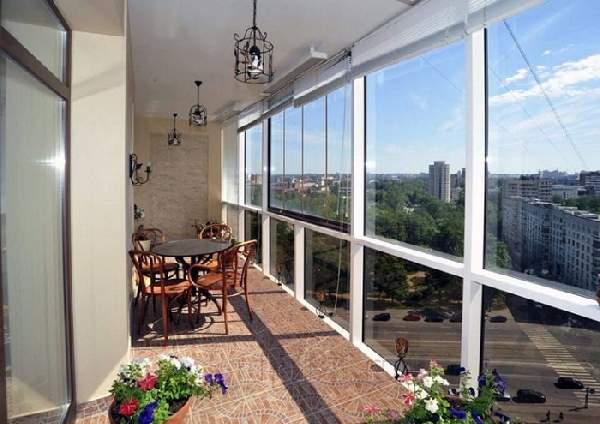 французский балкон внутри, фото 35