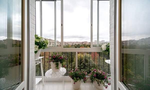французский балкон внутри, фото 36